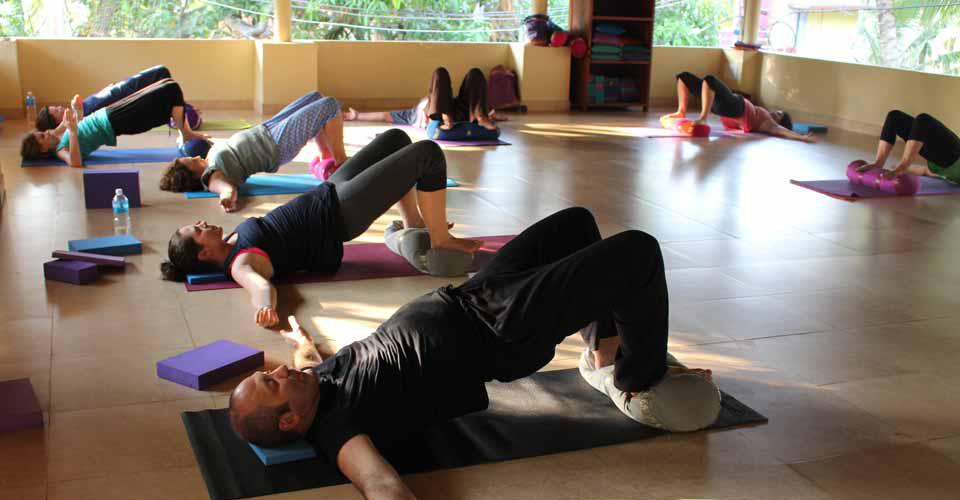 Yoga class at Kailasam Yoga