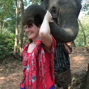 Blessing from an elephant!