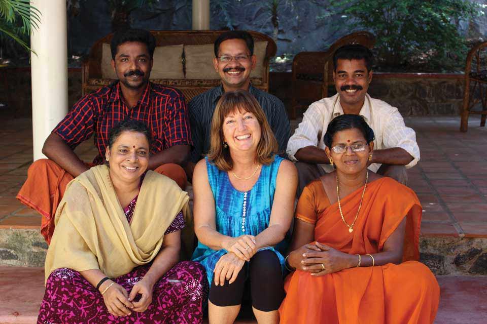 Diana Shipp with the team at Kailasam Yoga