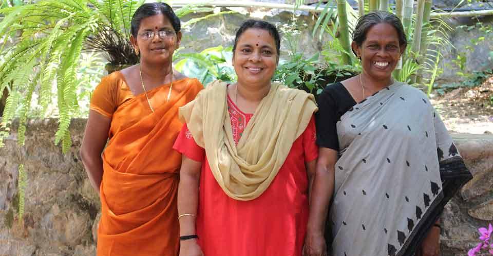 Welcoming staff at Kailasam Yoga Centre