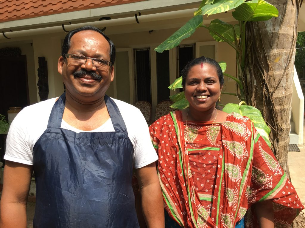 Rajendra and Rani - ayurvedic therapists at Kailasam Yoga