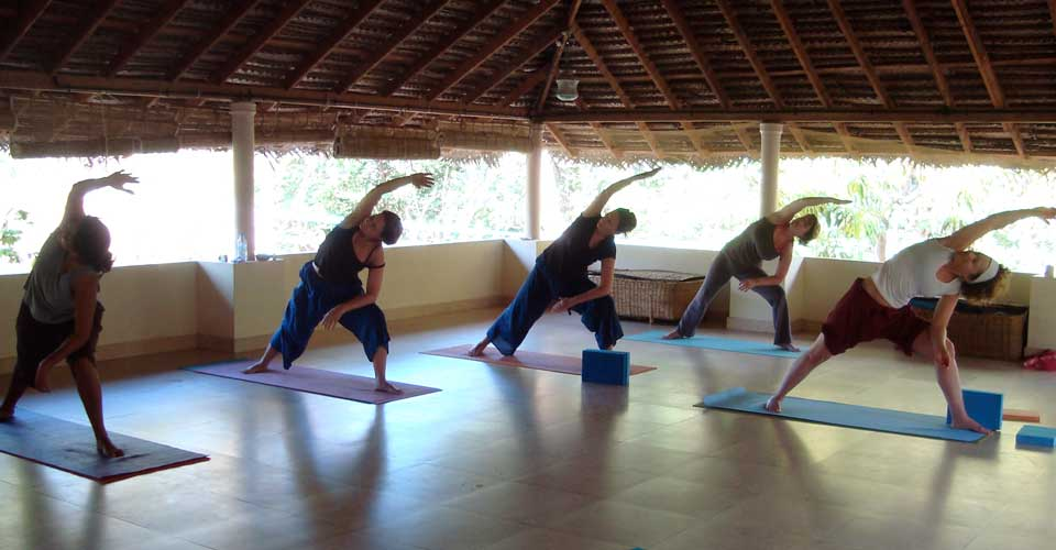 Yoga class at Kailasam Yoga