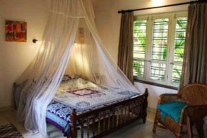 guest bedroom at Kailasam