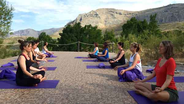 Yoga meditation in Spain with Diana Shipp