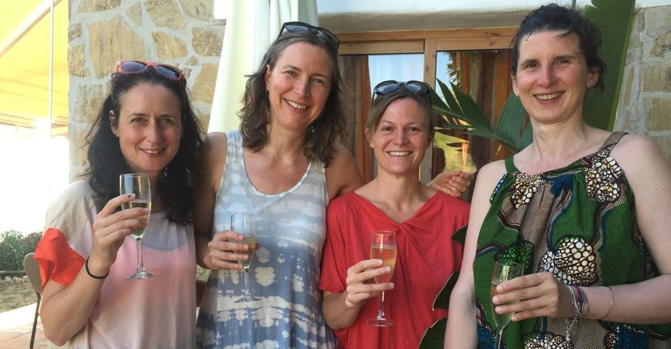 Guests on Spanish yoga holiday